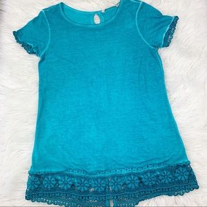 Soft Surroundings Heavenly Soft Tunic Top Lace